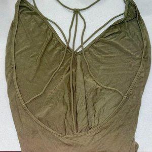 Backless/ Straps Amry Green bodysuit ✨